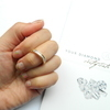 Diamond and Gold Princess Cut Ring