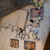 PlayStation 2, 4 games and 2 pads