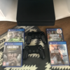 PS4 Slim with 2 controllers+5 games