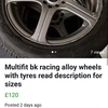 17s multifit alloy wheels and tyres