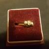 Antique diamond trilogy ring size n