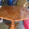 Antique Pine Octagon Dining Table