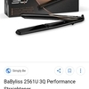 Babyliss hair straighteners
