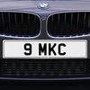 9 MKC Registration Number Plate