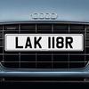 LAK 118R Registration Number plate