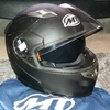 MT Flux Motorcycle Helmet and Bag