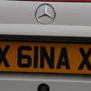X GINA X cherished number plate