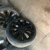 Scirroco alloy wheels new tyres