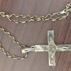 Old hand made 9ct gold cross 30Gram