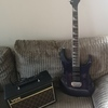 Ibanez electric guitar and vox amp,