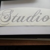 Studio sticker decal, black