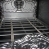 Silver leaf double bed frame