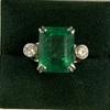Huge 11ct emerald diamond ring wow