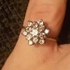 Antique ladies gold diamond ring