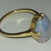 22 ct gold ring with fire opal