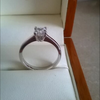 0.78 c princess cut diamond ring