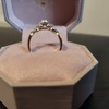 18k gold engagement ring diamond
