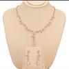 Rosegold vine leaf necklace