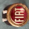 FIAT GOLD BONNET BADGE