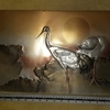 TWO CRANES JAPANESE ART