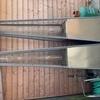 2x pyramid patio heaters
