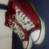Red Converse, Female, Size 5.