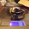 925 silver skull bangle