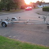 Fully braked boat trailer