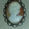 Vintage Cameo Broach Gold Setting
