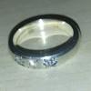 Vintage 14 ct White Gold  ring