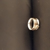 silver with gold spinner ring