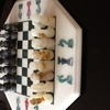 Vintage Turkish marble chess set