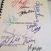 Signed Broken Arrow script.