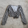 Holister striped top size 8 womens
