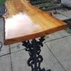 Oak and resin live egde tables