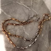 Yellow rose white gold chain 119g