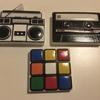 retro 80s cassette radio rubic toys