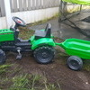 Kids peddle tractor and trailer