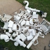 Assorted fittings  plastic, 4 bags