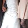 Stunning satin wedding dress