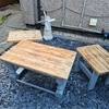 3 wooden tables