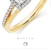 Ladies 18ct diamond halo ring