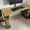 "Bespoke desk 32"" curved monitor"