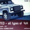 WANTED WANTED -- ALL LAND ROVER DEFENDERS - RUNNING OR NOT = ANY CONDITION - CASH WITHIN 1 HR